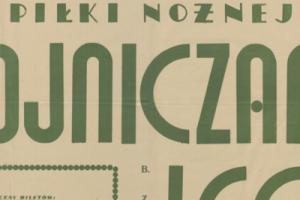 Plakat z sezonu 1949 ze spotkania 1949.02.27 Lechia Gdańsk-Chojniczanka Chojnice