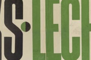 Plakat z sezonu 1949 ze spotkania 1949.05.15 Lechia Gdańsk-AKS Chorzów