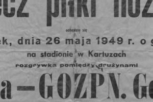 Plakat z sezonu 1949 ze spotkania 1949.05.26 GOZPN Gdańsk-Lechia Gdańsk