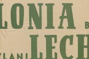 Plakat z sezonu 1949 ze spotkania 1949.07.03 Lechia Gdańsk-Polonia Bytom