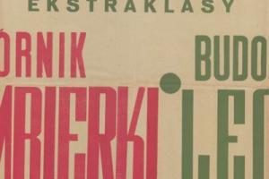 Plakat z sezonu 1949 ze spotkania 1949.09.04 Lechia Gdańsk-Szombierki Bytom