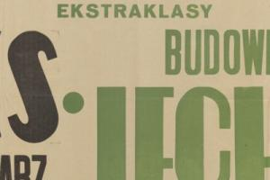 Plakat z sezonu 1949 ze spotkania 1949.09.15 Lechia Gdańsk-ŁKS Łódź