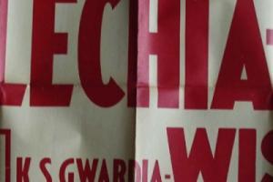 Plakat z sezonu 1949 ze spotkania 1949.09.18 Wisła Kraków-Lechia Gdańsk