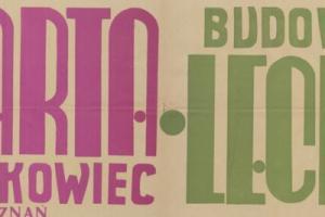 Plakat z sezonu 1949 ze spotkania 1949.10.16 Lechia Gdańsk-Warta Poznań