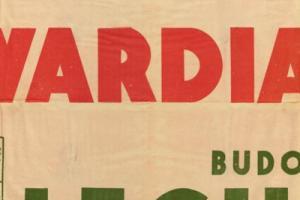 Plakat z sezonu 1950 ze spotkania 1950.03.19 Lechia Gdańsk-Gwardia Szczecin