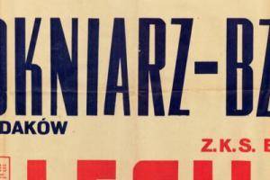 Plakat z sezonu 1950 ze spotkania 1950.06.11 Lechia Gdańsk-Włókniarz Chodaków