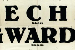 Plakat z sezonu 1950 ze spotkania 1950.07.30 Gwardia Szczecin-Lechia Gdańsk