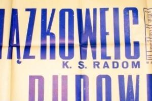 Plakat z sezonu 1950 ze spotkania 1950.08.06 Lechia Gdańsk-Związkowiec Radom