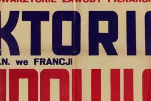 Plakat z sezonu 1950 ze spotkania 1950.08.29 Lechia Gdańsk-Victoria Barlin (Francja)