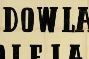 Plakat z sezonu 1950 ze spotkania 1950.11.01 Lechia Gdańsk-Gedania Gdańsk
