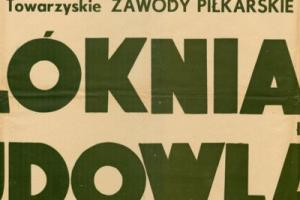 Plakat z sezonu 1951 ze spotkania 1951.05.13 Budowlani Gdańsk-Widzew Łódź