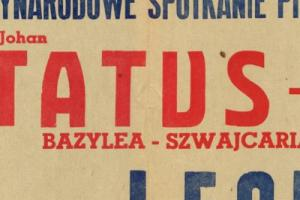 Plakat z sezonu 1955 ze spotkania 1955.05.20 Lechia Gdańsk-Status Bazylea (Szwajcaria)