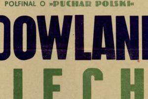 Plakat z sezonu 1955 ze spotkania 1955.06.15 Lechia Gdańsk-Budowlani Opole