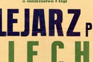 Plakat z sezonu 1955 ze spotkania 1955.06.19 Lechia Gdańsk-Kolejarz Poznań