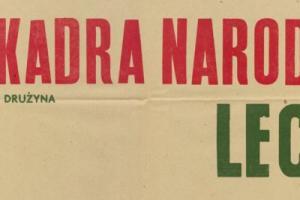 Plakat z sezonu 1955 ze spotkania 1955.07.13 Lechia Gdańsk-Kadra Narodowa
