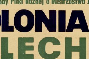Plakat z sezonu 1955 ze spotkania 1955.08.21 Lechia Gdańsk-Polonia Bytom