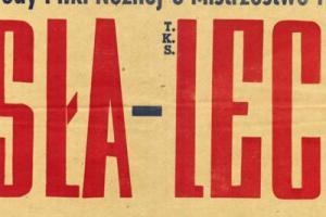 Plakat z sezonu 1955 ze spotkania 955.10.09 Lechia Gdańsk-Wisła Kraków