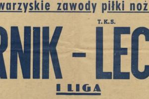Plakat z sezonu 1955 ze spotkania 1955.11.27 Lechia Gdańsk-Górnik Zabrze