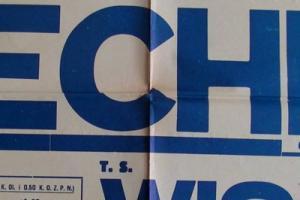 Plakat z sezonu 1957 ze spotkania 1957.09.07 Wisła Kraków-Lechia Gdańsk