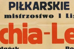 Plakat z sezonu 1957 ze spotkania 1957.09.22.Lech Poznań-Lechia Gdańsk
