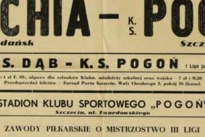 Plakat z sezonu 1960 ze spotkania 1960.10.16 Pogoń Szczecin-Lechia Gdańsk