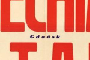 Plakat z sezonu 1961 ze spotkania 1961.10.15 Stal Sosnowiec-Lechia Gdańsk