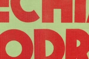 Plakat z sezonu 1962 ze spotkania 1962.04.01 Odra Opole-Lechia Gdańsk