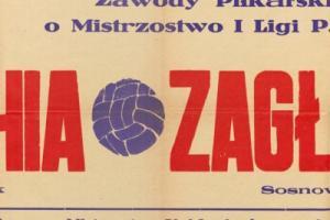 Plakat z sezonu 1962 ze spotkania 1962.09.16 Zagłębie Sosnowiec-Lechia Gdańsk