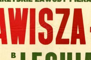 Plakat z sezonu 1966 ze spotkania 1966.03.13 Lechia Gdańsk-Zawisza Bydgoszcz
