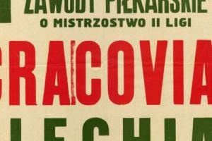 Plakat z sezonu 1966 ze spotkania 1966.03.27 Lechia Gdańsk-Cracovia