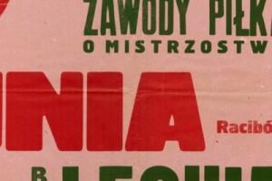 Plakat z sezonu 1966 ze spotkania 966.08.21 Lechia Gdańsk-Unia Racibórz