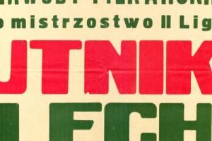 Plakat z sezonu 1966 ze spotkania 1966.10.30 Lechia Gdańsk-Hutnik Kraków