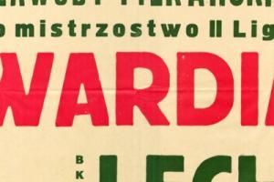 Plakat z sezonu 1966 ze spotkania 1966.11.02 Lechia Gdańsk-Gwardia Warszawa