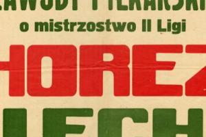 Plakat z sezonu 1967 ze spotkania 1967.05.25 Lechia Gdańsk-Thorez Wałbrzych