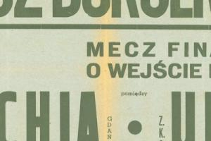 Plakat z zawodów bokserskiech 1948.06.20 Lechia Gdańsk-Unia Tczew