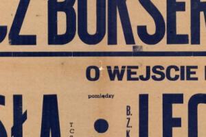 Plakat z zawodów bokserskiech 1948.07.01 Lechia Gdańsk-Wisła Tczew