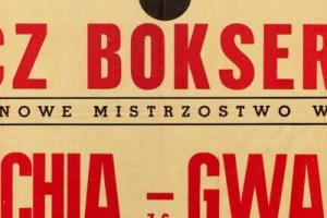 Plakat z zawodów bokserskiech 1948.09.19 Gwardia Gdańsk-Lechia Gdańsk