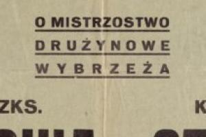 Plakat z zawodów bokserskiech 1948.09.25 Czyn Gdynia-Lechia Gdańsk
