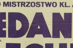 Plakat z zawodów bokserskiech 1948.10.09 Lechia Gdańsk-Gedania Gdańsk