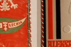 Proporczyk z sezonu 1973/1974 ze spotkania 1973.07.22.Lechia Gdańsk-Aleksandria [EGI]