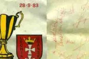 Proporczyk z sezonu 1972/1973 ze spotkania 1983.09.14.Juventus Turyn-Lechia Gdańsk